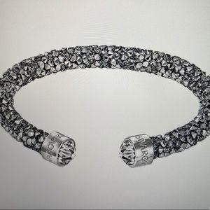 Swarovski Crystaldust Cuff Bracelet Grey, S